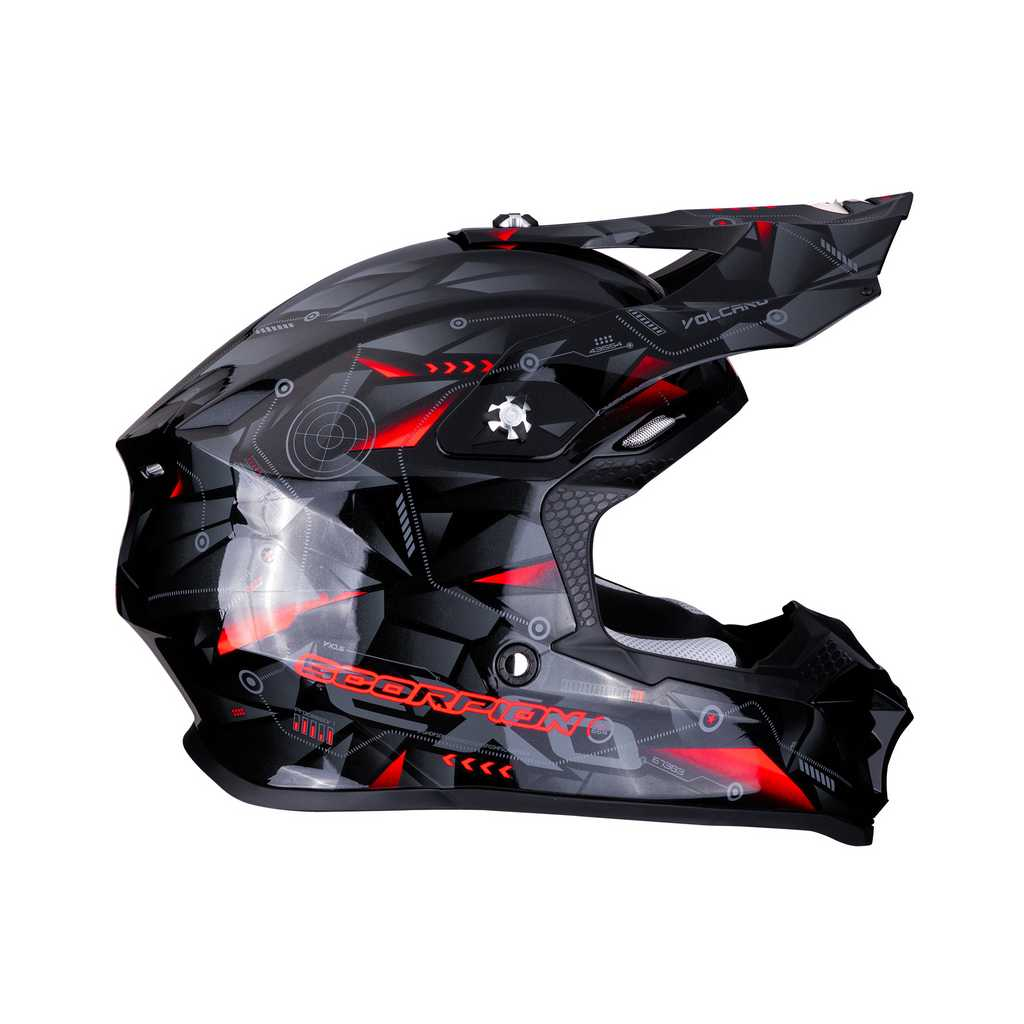 VX-16 AIR PUNCH Black-Silver-Red lat droite