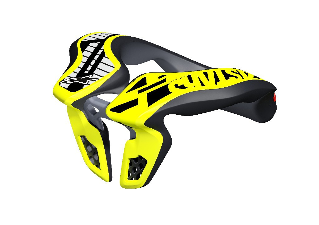 6540118_155_YOUTH NECK SUPPORT_BlackYellowFluo_back