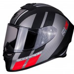 EXO-R1 AIR CORPUS Matt black-Silver-Red